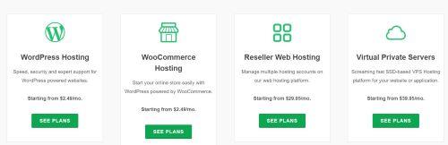 Greengeek hosting plans
